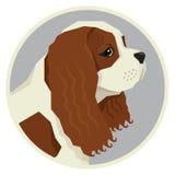 Symbol för stil för konung Charles Spaniel Geometric för hundsamling stolt vektor illustrationer