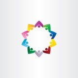 Symbol för stjärna för cirkelfolkteamwork Arkivbild