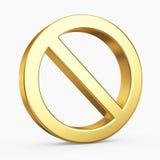 symbol för stopp 3D royaltyfri illustrationer