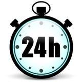 Symbol för stoppur 24h Fotografering för Bildbyråer