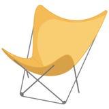 Symbol för strandstol in, en vit bakgrund Arkivbilder