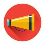Symbol för talande trumpet Arkivfoto