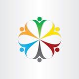 Symbol för teamwork för cirkelsymbolsfolk Royaltyfria Bilder