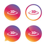 symbol för tecken 3D symbol för ny teknik 3D Royaltyfri Bild