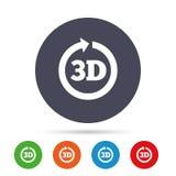 symbol för tecken 3D symbol för ny teknik 3D Arkivfoto