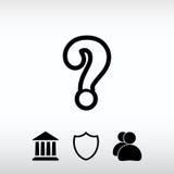 Symbol för tecken för frågefläck, vektorillustration Sänka designstil Royaltyfri Foto