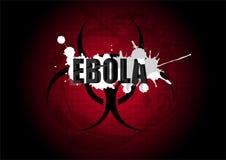Symbol för tecken för varning för biohazard för Ebola virus Royaltyfria Foton