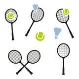 Symbol för tecken för tennisracket Sportsymbol Arkivbilder