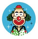 Symbol för tecknad film för clowngyckelmakareframsida Stock Illustrationer