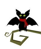 Symbol för tecknad filmslagträhuvud Teckenflyg Vektorillustration som isoleras på vit Symbol eller avatar för vektorslagträvampyr Fotografering för Bildbyråer