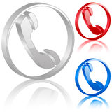 symbol för telefon 3d Arkivbilder