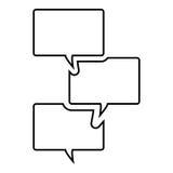 Symbol för textmeddelande Royaltyfri Bild