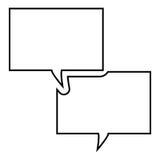 Symbol för textmeddelande Arkivbilder