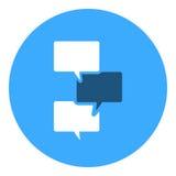 Symbol för textmeddelande Arkivbild