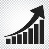 Symbol för tillväxtdiagram Väx den plana vektorillustrationen för diagrammet Busine Royaltyfria Foton