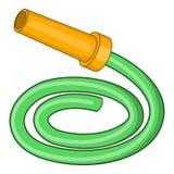Symbol för trädgårds- slang, tecknad filmstil royaltyfri illustrationer