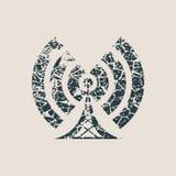 Symbol för trådlöst nätverk för Wi Fi Royaltyfri Bild