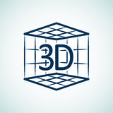 symbol för tryck 3d Royaltyfria Foton