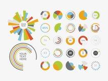 Symbol för uppsättning för diagram för Infographic beståndsdelpaj Royaltyfria Foton