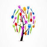Symbol för uppsättning för kök för logoaffärsträd Royaltyfri Fotografi