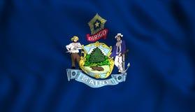 Symbol för USA för flaggamaine stat statligt royaltyfri illustrationer