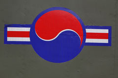 Symbol för USA-FLYGVAPEN - krigminnesmärke av Korea, ginyeomgwan Jeonjaeng, Yongsan-dong, Seoul, södra KoreaWar minnesmärke av Ko Arkivfoton