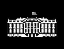 Symbol för USA-Vita Husettecken Amerika regerings- byggnad herrgård P vektor illustrationer