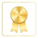 Symbol för utmärkelsebandguld royaltyfri illustrationer