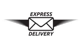 Symbol för uttrycklig leverans Arkivfoto