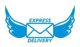 Symbol för uttrycklig leverans Arkivbild