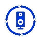 Symbol för vänd för högtalare för musikkolonn ljudsignal vektor illustrationer