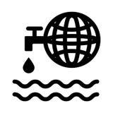 Symbol för världsjordklottecken Royaltyfria Bilder