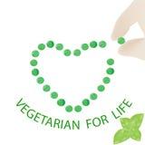 Symbol för världsvegetariandag Arkivfoto