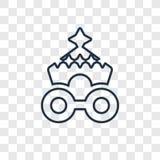 Symbol för vektor för begrepp för cirkusvagn som linjär isoleras på genomskinligt stock illustrationer
