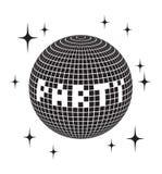 Symbol för vektor för boll för disko för symbol för vektor för boll för disko för symbol för diskobollvektor arkivbilder