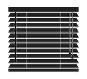 Symbol för vektor för fönsterrullgardiner som isoleras på en vit bakgrund Arkivbilder