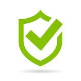 Symbol för vektor för fästingsköldsäkerhet vektor illustrationer