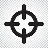 Symbol för vektor för målsyftelägenhet Pilar spelar symbollogoillustrationen Fotografering för Bildbyråer