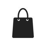 Symbol för vektor för shoppingpåse Shoppa illustrationen för vektorn för försäljningspåselägenheten Arkivbilder