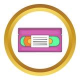 Symbol för vektor för videokassett Arkivfoton