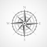 Symbol för vektor för vindroskompass Arkivfoton
