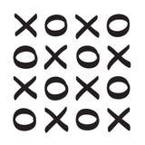 Symbol för vektor för XO-symbol hand dragen Arkivbild