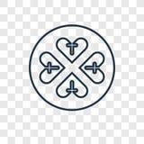 Symbol för vektor för gudskyddsbegrepp som linjär isoleras på transpare royaltyfri illustrationer