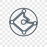 Symbol för vektor för planetjordbegrepp som linjär isoleras på genomskinligt royaltyfri illustrationer