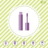 Symbol för vektor för runda för hårborste royaltyfri illustrationer