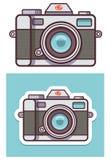 Symbol för vektorfotokamera Royaltyfri Fotografi