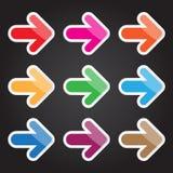 Symbol för vektorillustrationpil för design och idérikt arbete Arkivbild
