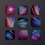 Symbol för vektormodedisko Abstrakt geometrisk diskosymbol Royaltyfri Foto