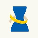 Symbol för viktförlust också vektor för coreldrawillustration vektor illustrationer