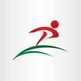 Symbol för vinnarespringbokstav p Royaltyfri Fotografi